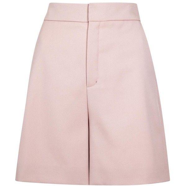 Lanvin Light pink wool shorts ($730) ❤ liked on Polyvore featuring shorts, light pink shorts, lanvin and wool shorts