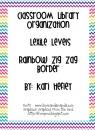 Classroom Library Organization - Lexile - rainbow zig zag border product from Kari-Hefley on TeachersNotebook.com