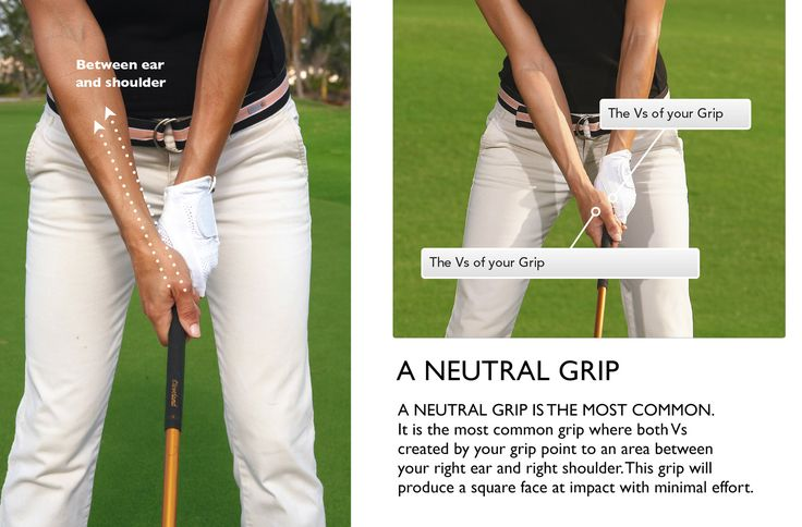 Get your vs in the right spot for a neutral grip golf