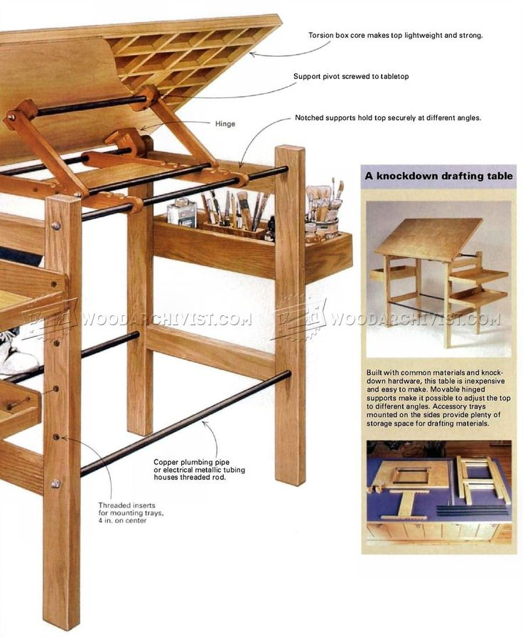 36 best woodworking inspiration plans images on for Blueprint plan table