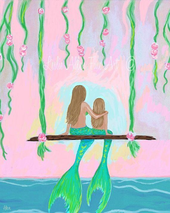 Hey, I found this really awesome Etsy listing at https://www.etsy.com/listing/231355613/mermaid-art-mermaid-painting-mermaid