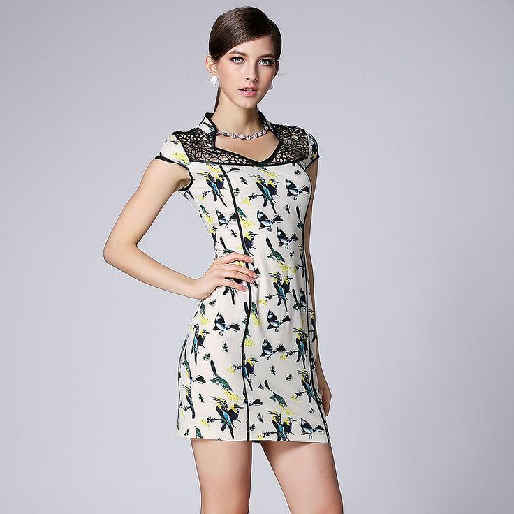 Breathtaking Modern Open Neck Short Cheongsam Dress - Qipao - Cheongsam - Women