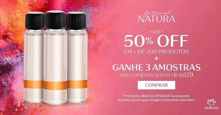 Aproveite mais de 200 produtos Natura com até 50% de desconto e ganhe 3 amostras grátis de fragrâncias nas compras acima de R$ 129,00 no http://rede.natura.net/espaco/carolinadovalle ! #Natura #Brasil #RedeNaturaEspaçoCarolinadoValle #ConsultoraNatura #CompreNaturaOnline #PromoçãoNatura #DescontoNatura #AmostraGrátis