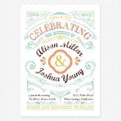 Cheerful Celebrations Wedding Invitations