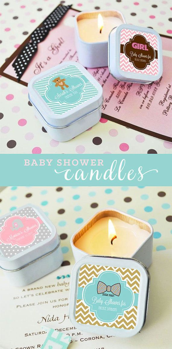 Baby Shower Candles Personalized Baby Shower Favor by ModParty