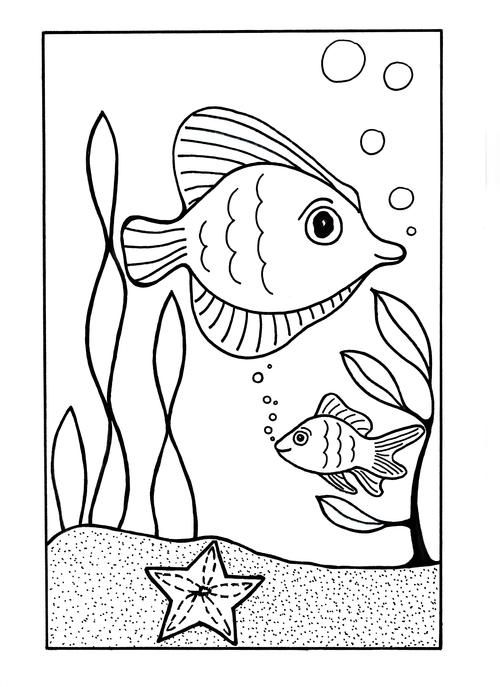 Under the Sea Coloring Page | Ocean coloring pages, Fish ...