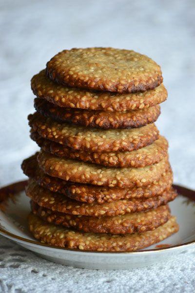 Szezámmagos keksz | http://www.moksha.hu