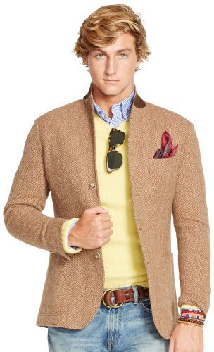 $349, Morgan Herringbone Sport Coat by Polo Ralph Lauren. Sold by Ralph Lauren. Click for more info: http://lookastic.com/men/shop_items/123909/redirect