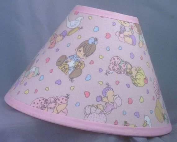 Precious Moments Nursery Pink Lamp Shade by LittleBobbyCreations, $39.99
