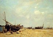 "New artwork for sale! - "" Fishing Boats Aground And At Sea 1880 by Boudin Eugene "" - http://ift.tt/2zCE5J6"