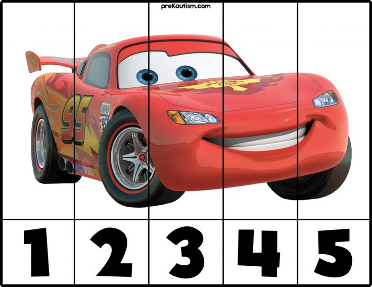 FREE! Cars #1-5 Puzzles - Autism & Education
