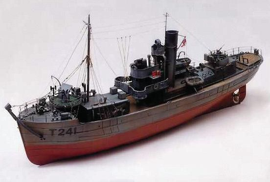 Caldercraft Sir Kay Minesweeper r/c Model Boat Kit 7011 | Hobbies One of eight vessels named after the Knights of the Round Table and which were to be known as the Round Table Class of minesweeper.