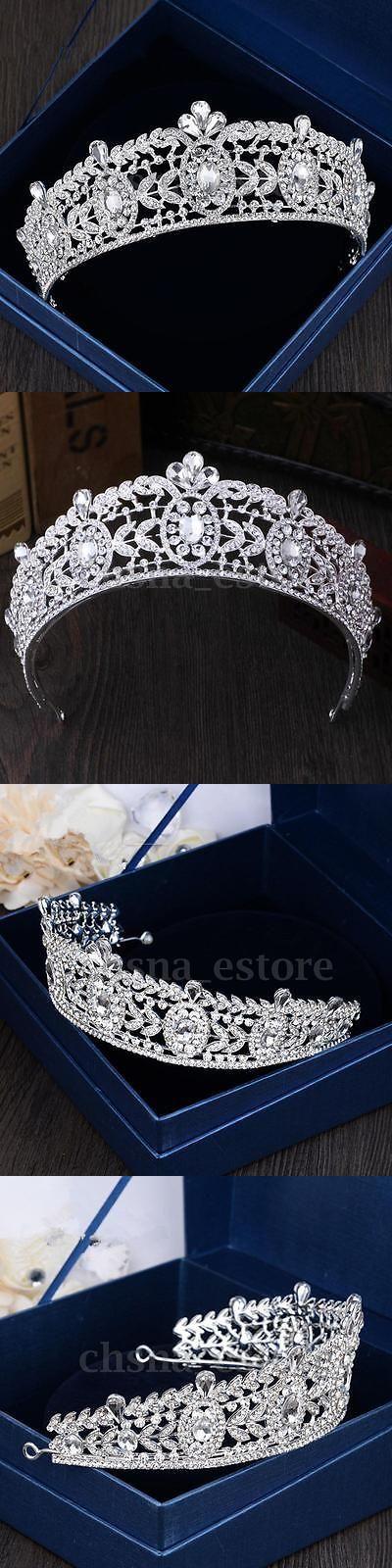 Bridal Accessories: Silver Wedding Bridal Crystal Rhinestone Headband Queen Crown Tiara Prom Jewelry -> BUY IT NOW ONLY: $30.99 on eBay!