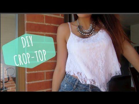 DIY Crop-Top para Verano ( Sin maquina de coser)