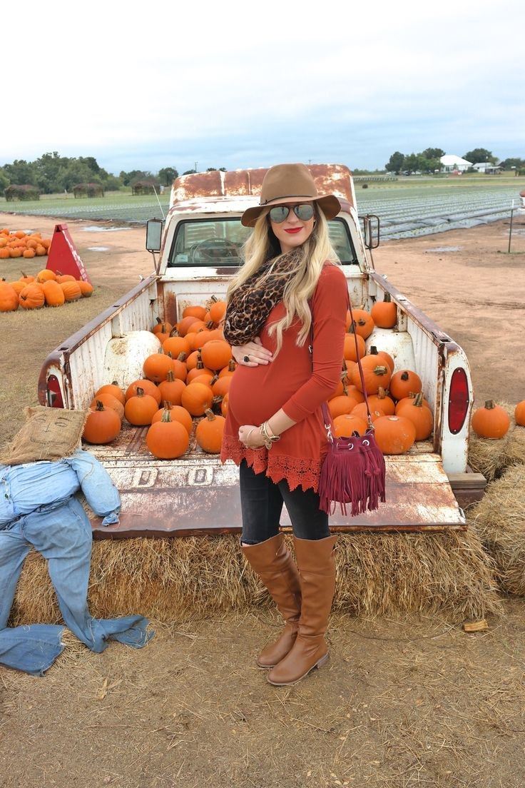 "Fall Maternity Pic (would be cute to do a pic like this to announce adding a ""pumpkin to the patch""... have her hold the pumpkin like she would her tummy)"