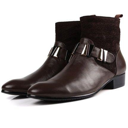 Мужская кожаные сапоги для осенние и зимние из натуральной кожи ковбойские сапоги острым носом молния западная мартин ботинки высокое качество