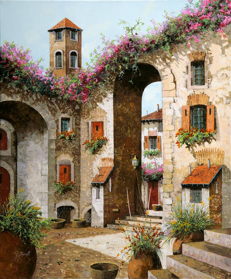 Il Campanile Painting by Guido Borelli