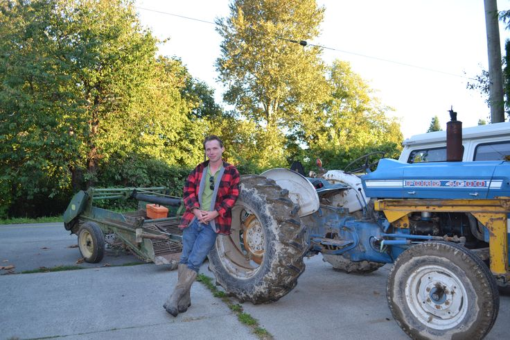 Miles Smart, farmer on the way to pick potatoes