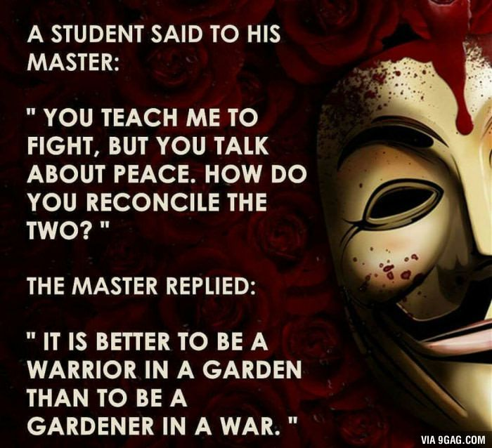 Wise words about war and peace via @angela4design                                                                                                                                                                                 More