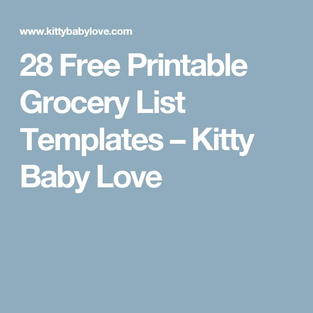 Best 25+ Grocery List Templates Ideas On Pinterest | Free