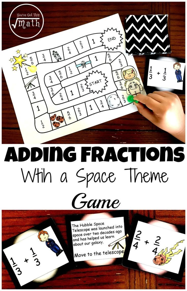 Work On Adding Fractions Withmon Denominators Using This Free Game With  A Space Theme