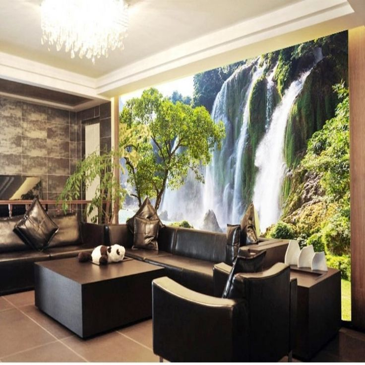 Beibehang Custom 3D Waterfall Landscape Wallpaper Living Room Sofa 3D  Stereo 3D Wallpaper Landscape Wallpaper Wall Part 71