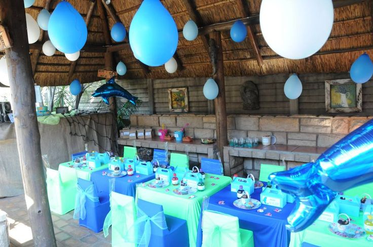 Fish theme party - Table and Decor setup - we do it all.