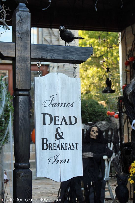 make this bhg inspired halloween sign using a mailbox post confessions of a serial