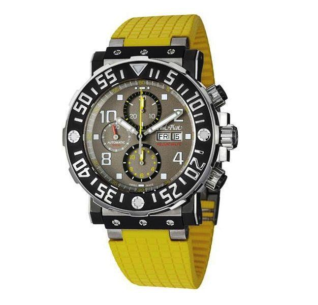 Paul Picot limited edition 500 stuks wereldwijd € 6250,- Chronograaf Plongeur model met een prachtige horloge kast constructie, zo zie je maar dat een super duikhorloge er ook goed uit kan zien.  www.juweelco.nl