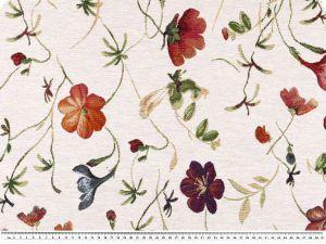 Tkanina tapicerska, zakardowa, kwiaty, 140cm