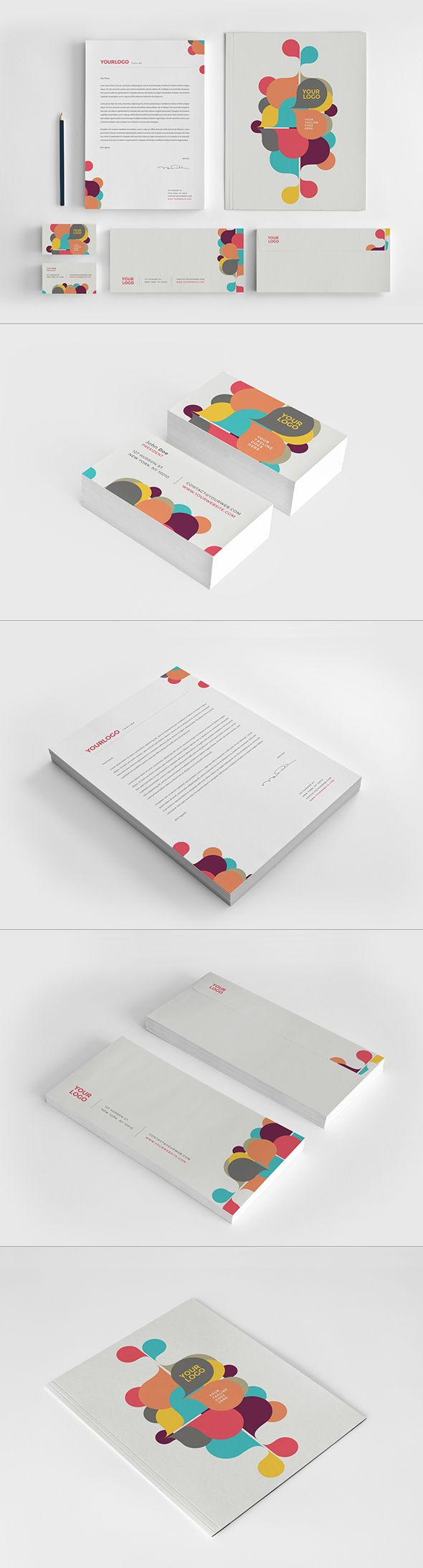 Colorful Kids Circles Stationery. Download here: http://graphicriver.net/item/colorful-kids-circles-stationery/12722534?ref=abradesign