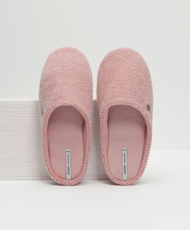Zapatilla básica tejido trama - OYSHO