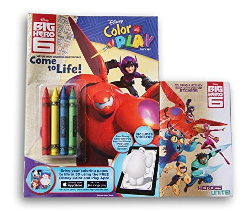 Disney Big Hero 6 Coloring Book Set Color Play And Mini With Stickers