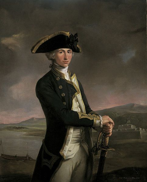 The dashing young Captain Horatio Nelson, 1781, aged 23. Painted by John Francis Rigaud
