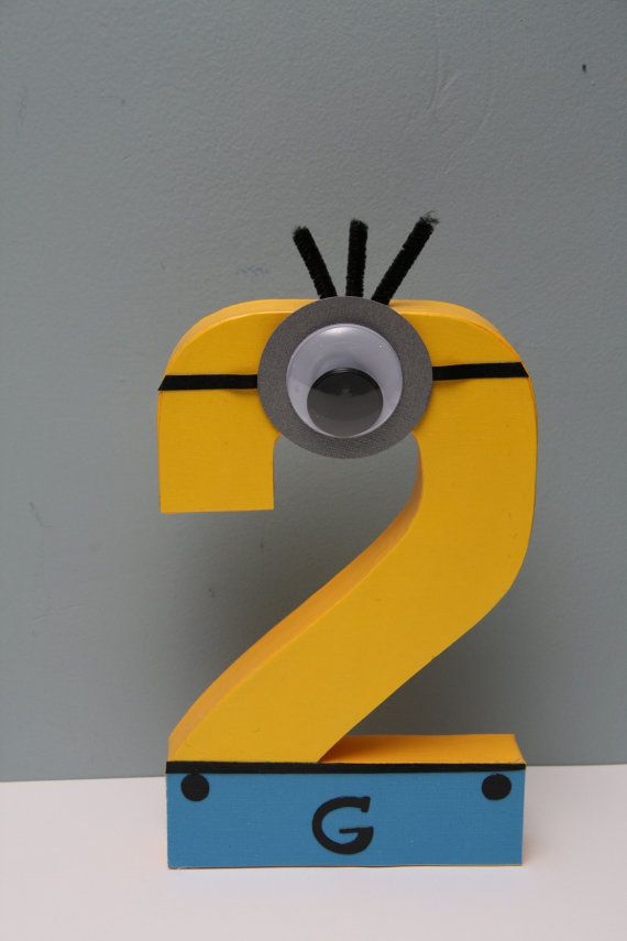 Despicable Me Minion Paper Mache Letter by CraftingCrew on Etsy, $10.00
