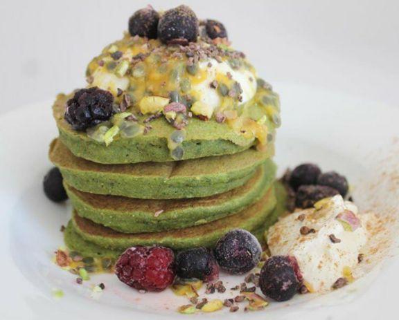 Now this is how to Matcha! YUM 😍  Matcha Buckwheat Pancakes RG @matcha_maiden.  How do you Matcha?