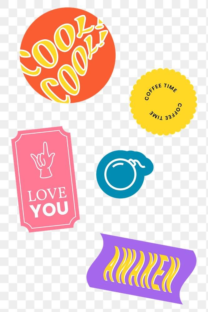 Retro Word Sticker Png Collection Free Image By Rawpixel Com Aew Free Png Png Stickers