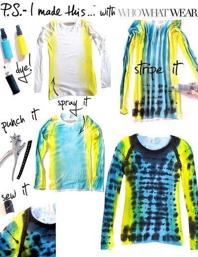 DIY TUTORIAL: tie dye t-shirt