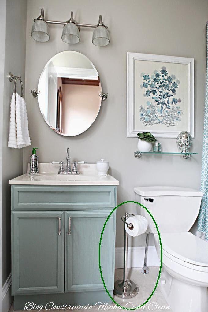 +1000 ideias sobre Pintura De Banheiros Pequenos no Pinterest  Cores Para Pi -> Banheiro Pequeno Tinta
