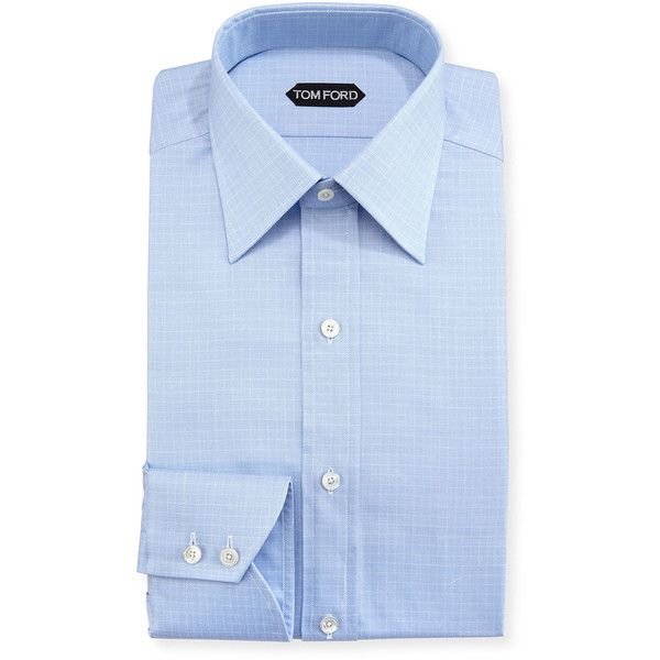 Tom Ford Tattersall Cotton Dress Shirt (704,935 KRW) ❤ liked on Polyvore featuring men's fashion, men's clothing, men's shirts, men's dress shirts, blue, tom ford mens shirts, mens cotton dress shirts, mens dress shirts, mens cotton shirts and mens tattersall dress shirts