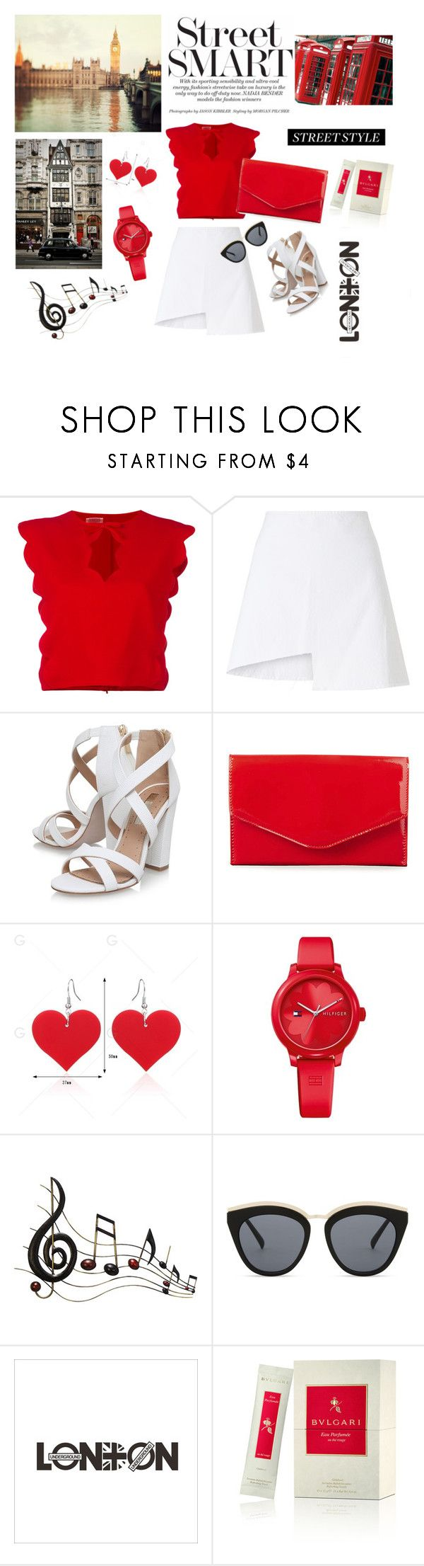 """London,London"" by naya-dg ❤ liked on Polyvore featuring Giambattista Valli, WÃ¥ven, Miss KG, Steve Madden, Tommy Hilfiger, Benzara, Le Specs and Bulgari"