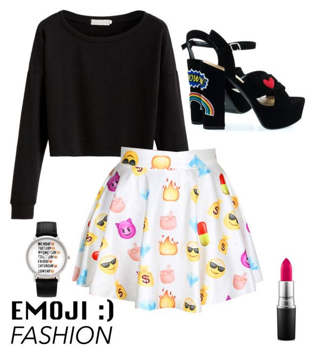"""""""emoji"""" by roselie1405x on Polyvore featuring Geneva and MAC Cosmetics"""