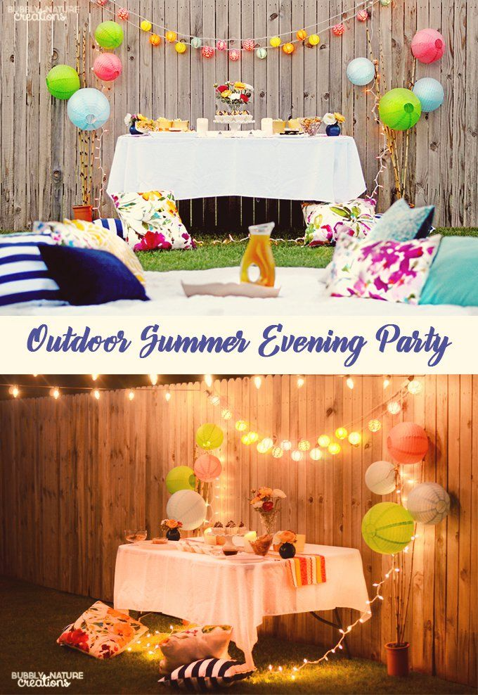 Outdoor Summer Evening Party with easy decorating tips and recipes!  #ad #DipYourWay