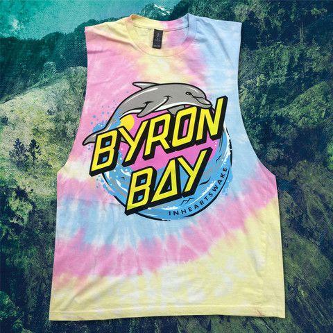 Byron Bay Dolphin (Tie Dye Sleeveless)