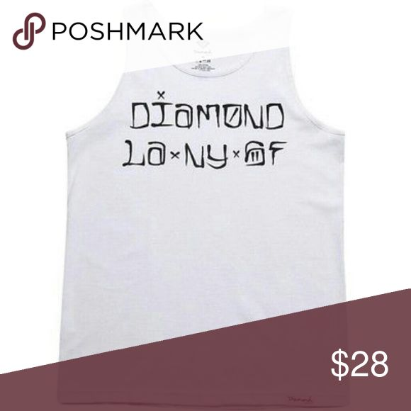 NWT Diamond Supply Company Cities Tank Top Brand new white men's tank. Tag attached. Diamond Supply Co. Shirts Tank Tops