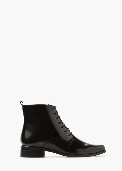 Lace-up leather boots | MANGO