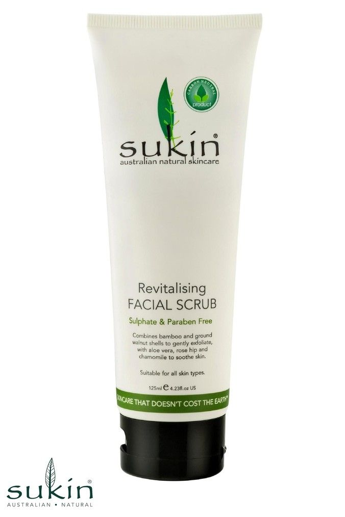Sukin Natural Cleansing Facial Scrub 125ml Facial Scrubs Natural Skin Care Gentle Cleanser