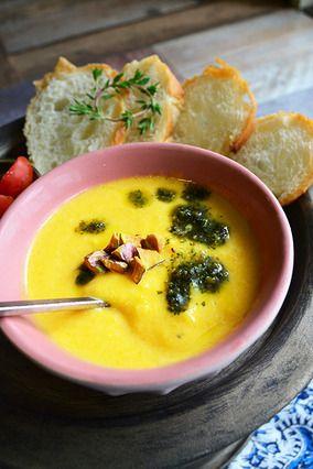 かぼチャウダー 朝からほっこり幸せ気分♪ ピスタチオとかぼちゃとキャンベルクラムチャウダー=簡単 - 豊菜JIKAN - レシピブログ