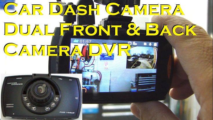 """DUAL CAMERA CAR DASH CAM - 2.7"""" 1080P Full HD DVR - GearBest"""