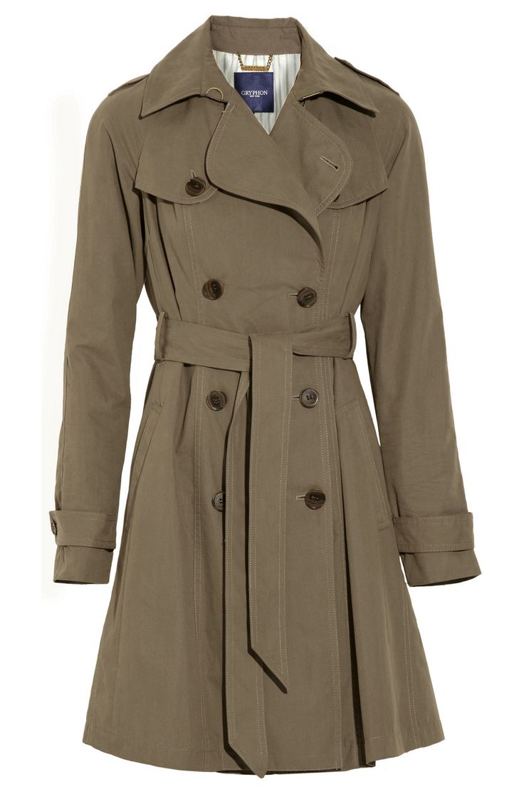 This Gryphon pleated cotton trench coat ($96, originally ...
